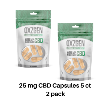 Picture of 25 mg CBD Capsules 5 ct 2 pack